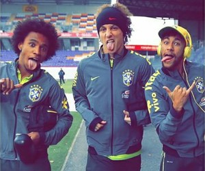 neymar, david luiz, and willian image