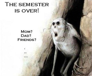 funny, over, and semester image