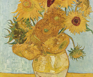 sunflower, van gogh, and art image
