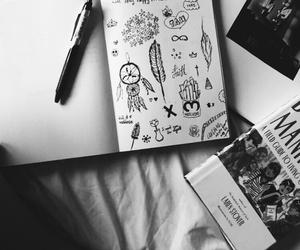 boho, books, and minimalistic image