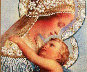 beautiful, mary, and baby image