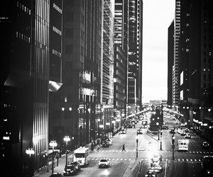 background, city, and black and white image