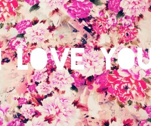 flowers, ilove, and pink image