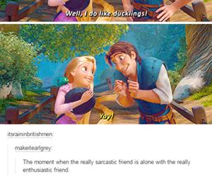 funny, tumblr, and tangled image