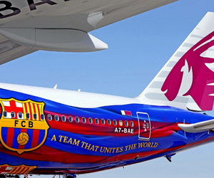 airplane, aviation, and Barca image