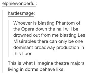 broadway, les miserables, and The Phantom of the Opera image