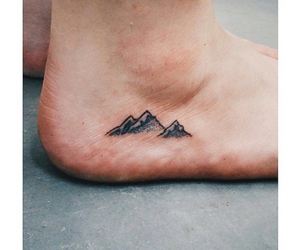 tattoo, mountains, and feet image