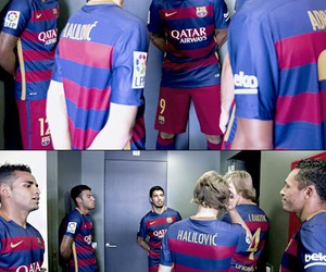 football, fc barcelona, and soccers image