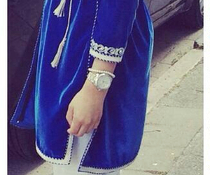 fashion, blue, and hijab image