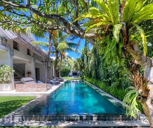 summer, bali, and pool image