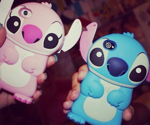 stitch, iphone, and pink image