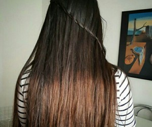 long hair and ombre hair image