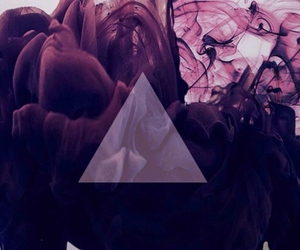 wallpaper, purple, and triangle image