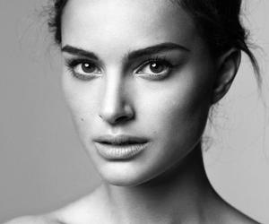 natalie portman and black and white image