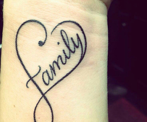 tattoo, family, and heart image