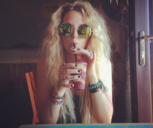 hippie, blonde, and girl image