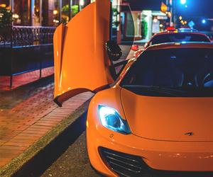 car, night, and orange image