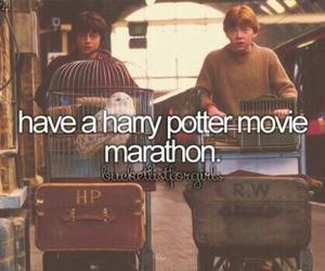 harry potter, Marathon, and bucket list image