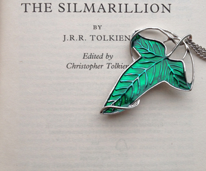books, leaf, and tolkien image