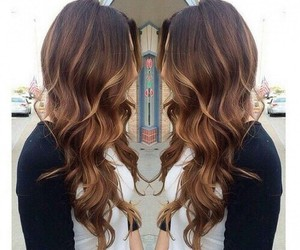 black, wavy, and ombre image