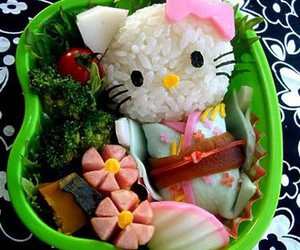 hello kitty and food image