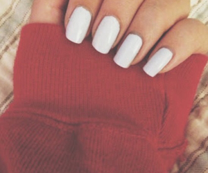 nail polish, sweater weather, and white nails image