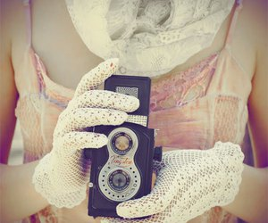 camera, lace, and photography image