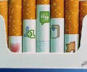 facebook and cigarette image