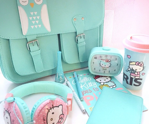bage, hello kitty, and note image