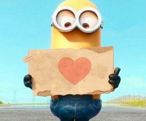 minions, love, and heart image