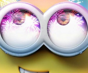fireworks, minions, and cute image