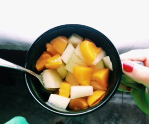food, fruit, and melon image