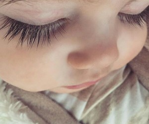 baby, cute, and eyelashes image