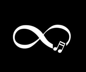music, infinity, and wallpaper image
