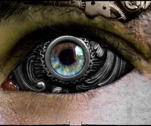 eye, art, and metal image