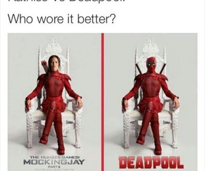 Avengers, deadpool, and katniss image