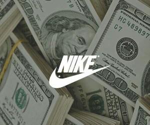 nike, money, and dollar image