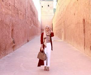 hijab, fashion, and morocco image