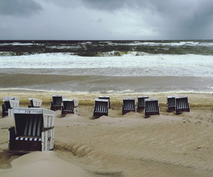 beach, blue, and germany image