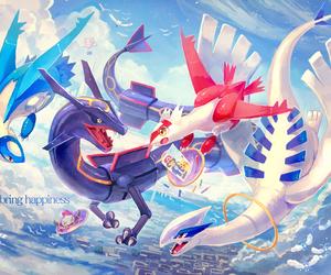 pokemon, rayquaza, and lugia image