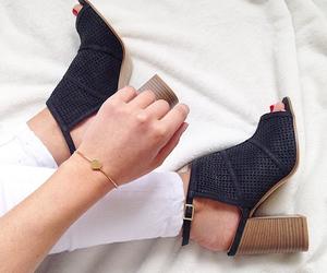 bracelet, fashion, and feet image