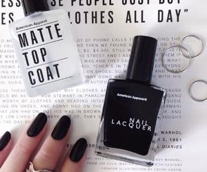 black, nail polish, and nails image