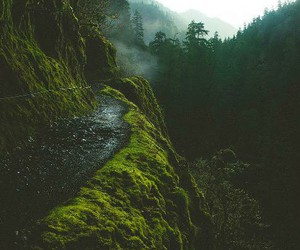 mountain river greens image