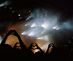 heart, concert, and light image