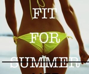 summer, fit, and bikini image