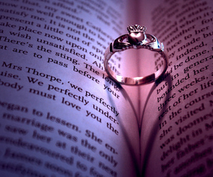 love, ring, and book image