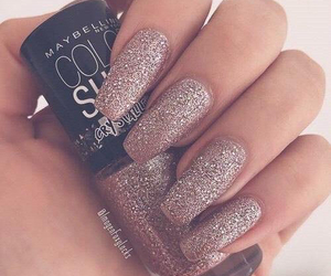 nails, glitter, and style image
