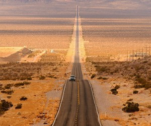 road, car, and desert image