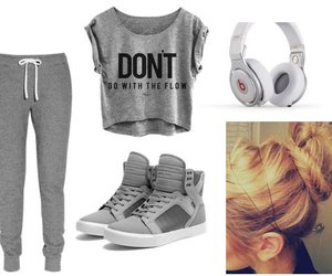 outfit, grey, and swag image