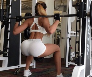 fitness, squats, and fitgirl image